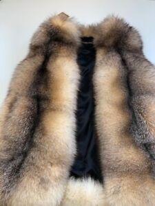 Bellissimo gilet di vera volpe colore cammello  Nuovo con etichette. TG M