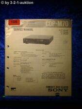 Sony Service Manual CDP M70 CD Player (#0108)