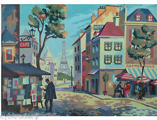 Paris France Street Scene  Paint By Number  Refrigerator / Tool  Box  Magnet