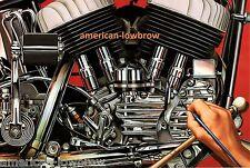 David Mann Art Motorcycle Poster Print Easyriders Hand Painted Hand Painting