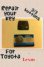 for Toyota rubber key pad fob with cr2016 battery. Avensis, Rav 4, Corolla,Hiace