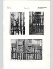 1924 i dettagli di FERRO BATTUTO PER RINGHIERE NO. 11 barnhill Stamford