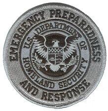"""HOOK/LOOP D35EPRblackV Homeland Security Emergency Prep Response 3.5"""" patch"""