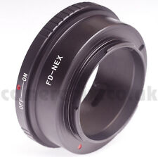 Canon FD lens to Sony NEX E mount camera Adapter ring NEX5 NEX6 NEX7 Alpha A3500