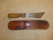 VERY SCARCE WW 2 NEW ZEALAND MADE US BUSH/COMBAT KNIFE W/US ON HANDLE AND SHEATH