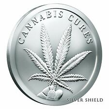 1 oz .999 Silver Round - Silver Shield Cannabis Cures - Sold Out Dank Silver