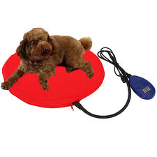 15W Waterproof Anti-wear Safe Soft Pet Heated Warmer Bed Pad Mat 25~55℃ Red