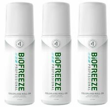 Biofreeze Professional Gel 3 oz Roll on Colorless Exp 2022--Free Fast Shipping!!