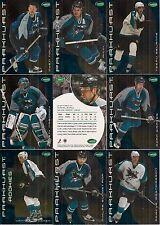 2001-02 Parkhurst by ITG San Jose Sharks Regular Team Set (11)