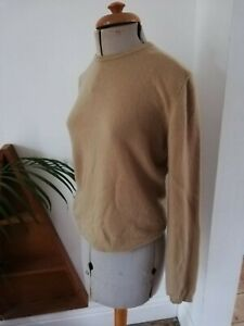 United colours of benetton honey yellow jumper sweater vintage 100% wool S 8