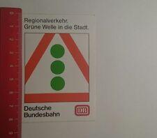 Aufkleber/Sticker: Deutsche Bundesbahn Regionalverkehr grüne Welle (290117121)