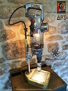 The 'Wolf' drill Lamp ,Industrial Lamp, table lamp, steampunk lamp