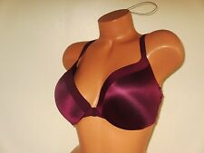 34DD VICTORIA SECRET SO OBSESSED Push Up Bra Front Close Racerback +1 Cup Wine