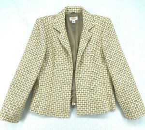 Talbots Blazer Petites 12P Italian Fabric Open Front Viscose Knit EUC (W2250-D4)