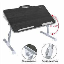 Kavalan Portable Laptop stand Table w/ Handle Angle Adjustable Stand,Black DK11