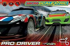 Micro Scalextric Pro Driver Trackset and Racing Cars New