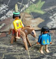 Vintage 1974 Geobra Playmobil Native Indians and Horse Figures Lot