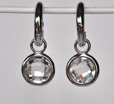 925 Sterling Silber Creolen Ohrringe mit Zirkonia crystal Hochzeit Nr 417