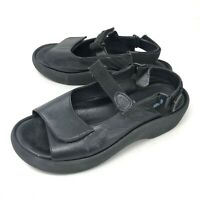 Wolky Womens 41 JEWEL Black Leather Sandals Walking Comfort US 9 - 9.5