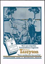 1920s BIG VINTAGE Herbert Tareyton Cigarettes Tennis Players Art Print AD