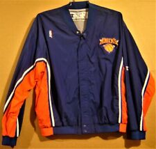 NEW YORK KNICKS ROYAL BLUE WARM-UP JACKET BY CHAMPION IN SIZE XL