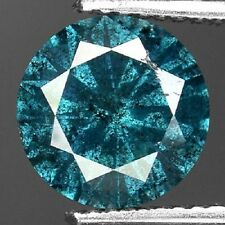 Round Natural Diamond 0.01 Carat, I, Greenish-Blue Color
