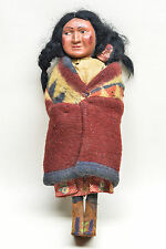 Vintage 10.5 inch Skookum Doll with Papoose