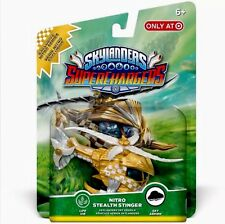 Rare SKYLANDERS SUPERCHARGERS Figure GOLD NITRO STEALTH STINGER NEW PS3 4 WII U