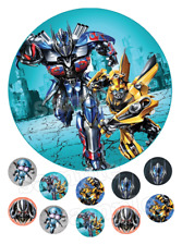 Transformers The Last Knight Eßbar Tortenaufleger NEU Party Deko Geburtstag dvd