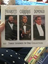 Three Legends in One Collection -  Pavarotti, Carreras, domingo 3 cds BRAND NEW