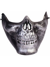 Adult Scary Lower Face Skull Half Mask Mad Max Costume Accessory