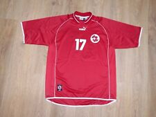 Switzerland 2000 - 2002 #17 rare match worn signed home shirt size XL