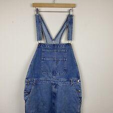 Vintage Men's RESULTS JEANS Blue Denim LARGE Carpenter Bib OVERALLS Shorts R23