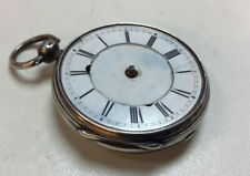 NICE SOLID SILVER ANTIQUE FUSEE POCKET WATCH 1876 FOR RESTORATION CHEAP £35.00
