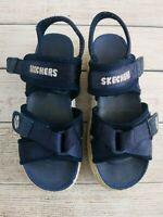Vintage 90s Skechers River Jammers Sandals Tough Shoes Blue Platform Girls Sz 1