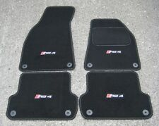Car Mats in Black to fit Audi RS4 B7 (2006-2008) + RS4 Logos (x4) + Fixings