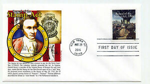 5064 Repeal of the Stamp Act, 1766, Panda Cachets, FDC
