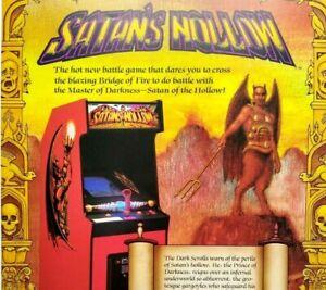 Satans Hollow Arcade Flyer Midway Original 1982 Video Game Art Devil Halloween