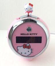 Hello Kitty SANRIO Pink Round Digital Clock Radio W/Projection Clock