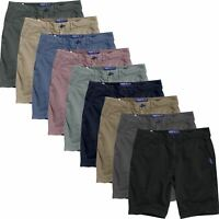 Mens Stretch Chino Shorts River Road Cotton Cargo Combat Casual Half Pant New