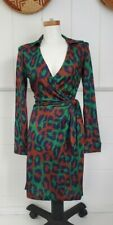 Diane Von Furstenberg Leopard Wrap Dress 6