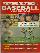 1963 True Magazine Baseball Yearbook Mickey Mantle Willie Mays Don Drysdale HOF
