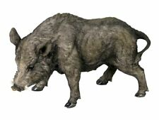 Standing Wild Boar Ornament Figurine Tusk Pig Bore Animal Wild Realistic Detail