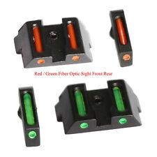 Tactical Mini Front Rear Red/Green Fiber Optic Combat Sight Focus-Lock Fit Glock