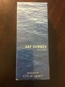 new A&F Summer Cologne men's Abercrombie & Fitch Eau De Cologne 1.7 oz Sealed