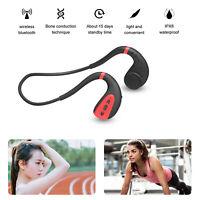 IPX8 Écouteur à conduction osseuse sans fil casque stéréo HIFI Bluetooth V5.0