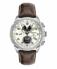 New Seiko SSC509 Prospex World Time Solar Chronograph Leather Strap Men's Watch