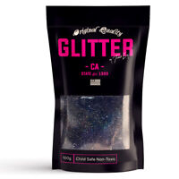 Black Holographic Premium Glitter Multi Purpose Dust Powder 100g / 3.5oz