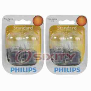 2 pc Philips Parking Light Bulbs for Saturn Vue 2007 Electrical Lighting no