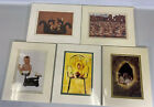 """Anne Geddes Lot Of 5 Cute Baby Art Prints Matted 8"""" X 10"""" Flower Pots Animals"""